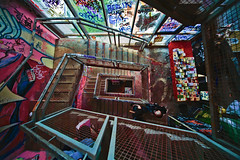 Tacheles stairs, Berlin (Paolo Margari) Tags: berlin art scale stairs canon germany deutschland photography photo foto photographer arte photographers squat german fotografia canoneos tacheles 2010 fotografo fotografi squatter berlino alemagne italianphotographers paolomargari w5s fotografiitaliani woodstock5stelle a2fp