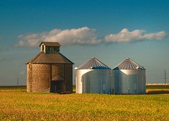 Bins (Pete Zarria) Tags: rural illinois corn midwest farm elevator iowa gasstation americana silage smalltown grainbins farmtown rfd omot