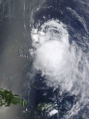 Tropical Storm Fiona in the Atlantic Ocean
