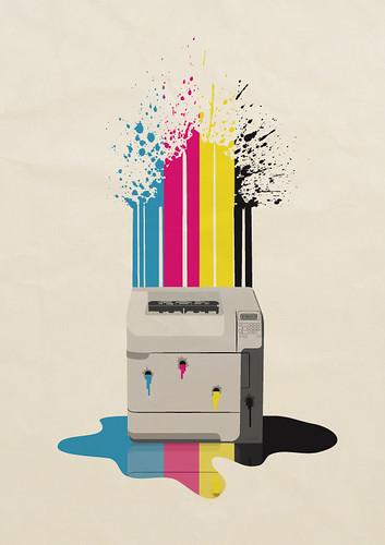 Impresora sangrante