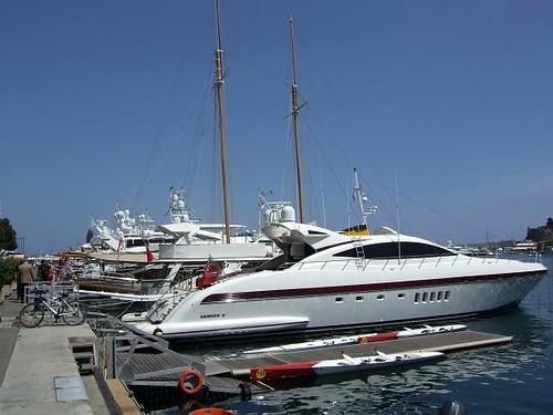 yachts in Port Hercules, Monaco