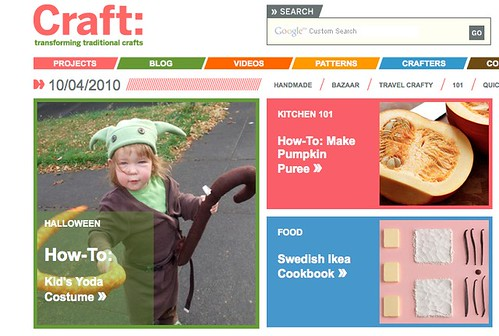 Pearl on the front page of CRAFT: today!