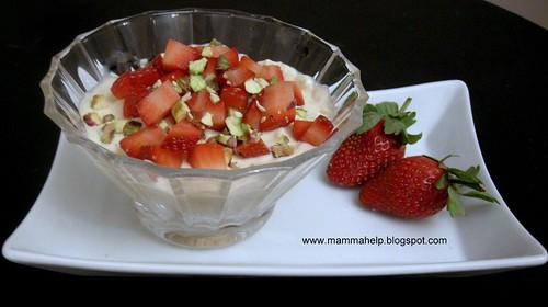 mousse pistaccio fragole