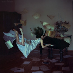 distorted gravity (anka_zhuravleva) Tags: music 6x6 fly flying dream piano levitation hasselblad tale hassel