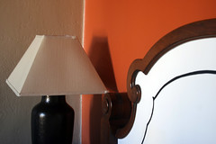 Lamp (quinn.anya) Tags: orange lamp wall berkeley bed headboard bancrofthotel
