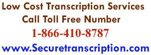 Low cost Transcription Services