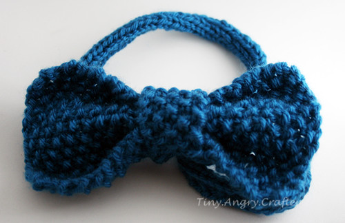 Blue Hair Bow