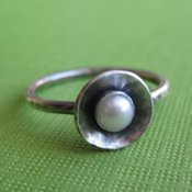 Sweet and Rustic Pearl Ring