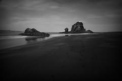 Deserted (Steve.Lawton) Tags: longexposure newzealand canon blackwhite rocks auckland westcoast 2470mm28 whatipubeach manukauheads 10stopfilter 5dmk2