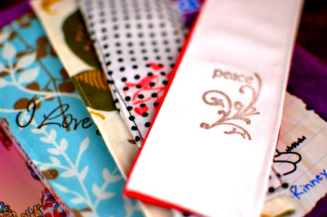 hand sewn bookmarks
