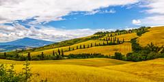 La Foce with Monte Amiata - Tuscany, Italy (dejott1708) Tags: la foge monte amiata tuscany toscana toskana italy italien italia landscape cypresses hill serpentines