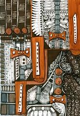 Industrial Closet (molossus, who says Life Imitates Doodles) Tags: zentangleinspiredart zentangle pittbigbrushpen