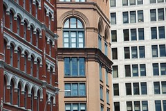 The view of  on Lafayette Street during Summer Streets. (jackszwergoldarchives) Tags: manhattan newyorkcity summerstreets szwergold
