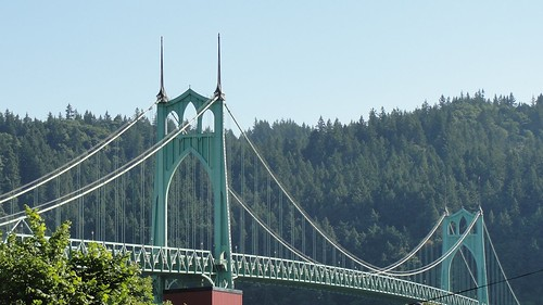 St Johns Bridge in Portland, Oregon