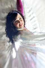 Angel Wings (Gordana AM) Tags: old light woman ontario canada church girl vertical stone angel dark hair island team wings eyes long pretty dancers dancing stage posing dancer location hobby belly expressive cape windsor material desaturated walls oriental performers promotional colouring bellydancers freelance selective hite troupe bablo localbusiness enrobed class2010 lepiafgeo happybirthdaylensbaby