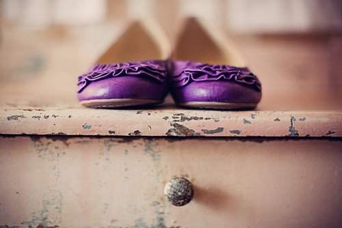 lovely purple flat shoes, vintage flat shoes