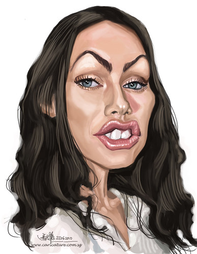 digital caricature of Megan Fox 2