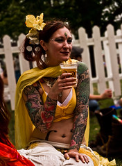 She rocked yellow,remarkably well. (Drummy ™©) Tags: seattle yellow bellydancer pride