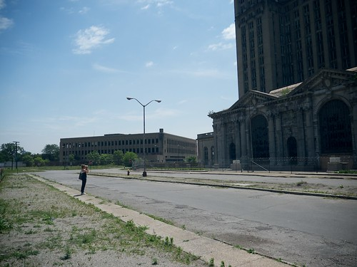 Thea at Michigan Central Station 2