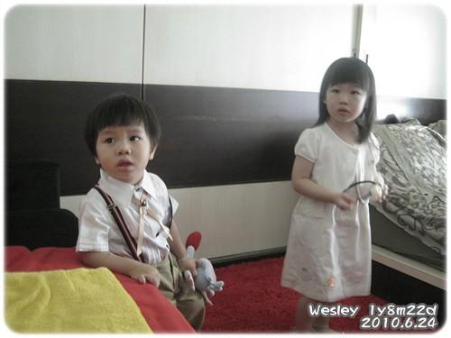 100624-柔柔和楷楷在新房