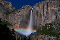 Rainbow from the Moonlight - Yosemite Falls Moonbow (Darvin Atkeson) Tags: california park moon mist long exposure falls national yosemite moonlight moonbow darvin atkeson darv liquidmoonlightcom thepowerofnow