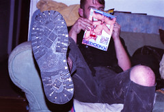 Boots he found, and porn he found (dickydawson) Tags: cold turkey shoe reading living braces skin boots room diary swastika den documentary porn drug heroin pills ketamine nan addict skinhead goldin diarist