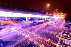 EXPO Rush (spiraldelight) Tags: urban shanghai traffic expo shift junction explore   traffictrails lightstream  jct ledlight   eos5dmkii onfrontpage tse17mmf4l spiraldelight