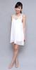 HERVELVETVASE Pearl Chiffon Minidress in White $27.50 PTP 13-17 L 30.5