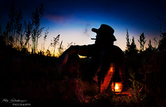 Just stop for a moment and take a look at the sky (Ray Schnberger) Tags: sunset sky lamp night dark landscape star cowboy smoke cigar hut western petroleum oillamp