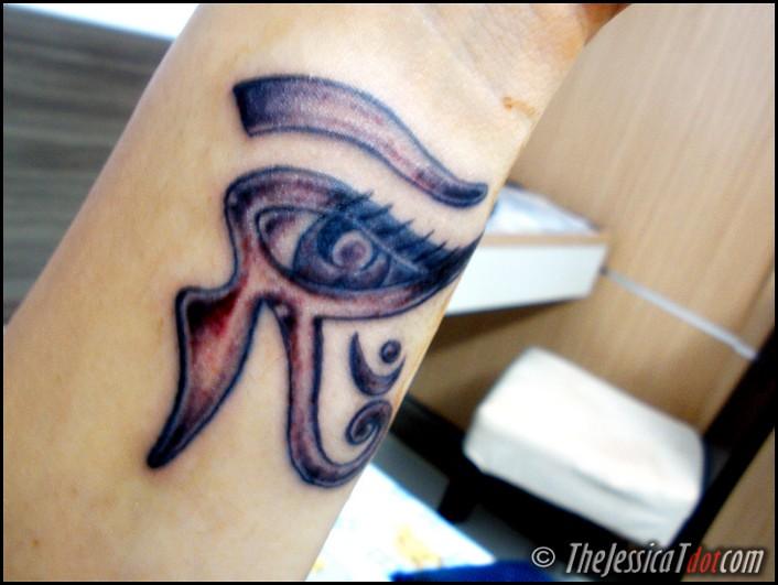 And this one… will be an Egyptian horus eye.