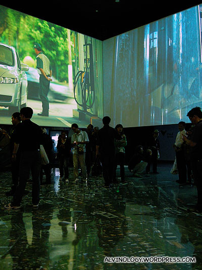 A video installation inside the Brazil pavilion which made me really giddy