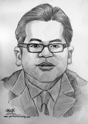 Portrait & caricature live sketching for Citigold Private Client 23 June 2010 - 1