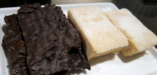 Migas bark and shortbread