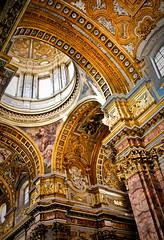 St. Ambrose (campra) Tags: italy rome gold arch corso ceiling dome column carlo marble baroque ornamentation pietrodacortona cuppola ambrogio onoriolonghi