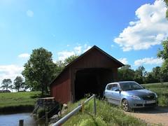 Vaholm covered bridge at Tidan in Sweden #5