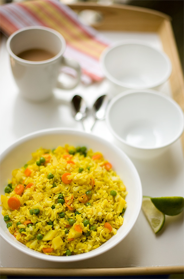 Vegetable Poha.. A simple yet tasteful way to start a beautiful day ...