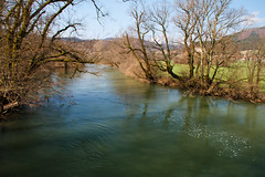 With bubbles (Karmen Smolnikar) Tags: green water river spring bubbles slovenia slovenija unica planina unec yourwonderland planinafieldtrees