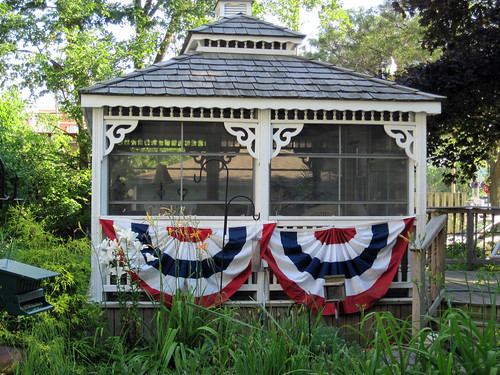 Our Gazebo on the 4th of July