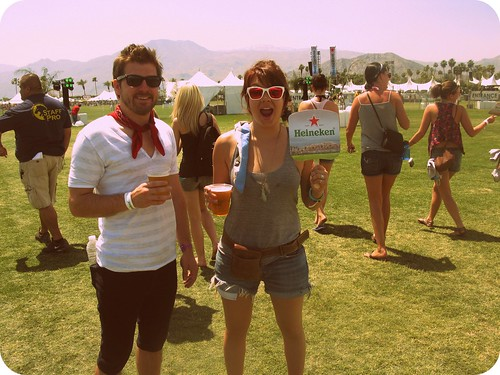 justin and me at coachella