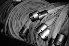 Firehall No. 341 ~ Toronto (Sally E J Hunter) Tags: toronto blackwhite noiretblanc firestation firehall hoses moo1 topwom firehall341