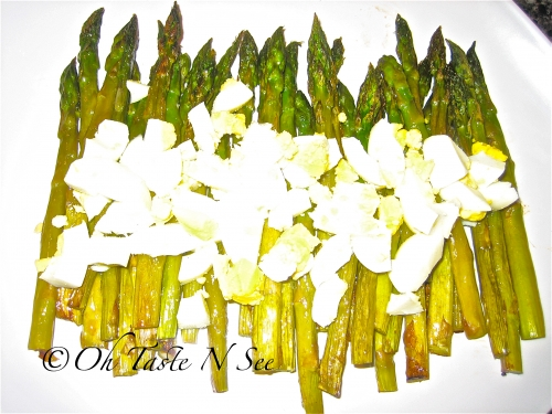 Roasted Asparagus with Chopped Eggs @ Oh Taste N See