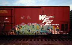 Western Fruit Express (TRUE 2 DEATH) Tags: railroad streetart art train graffiti tag graf traintracks rusty trains bn railcar rusted heat weathered spraypaint boxcar railways railfan freight herald reefer freighttrain rollingstock wfe burlingtonnorthern scrapped dcm westernfruitexpress benching freighttraingraffiti bnfe bnsf799784