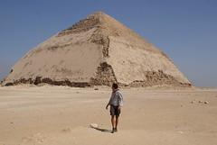 Pyramid climbing in Dahshur