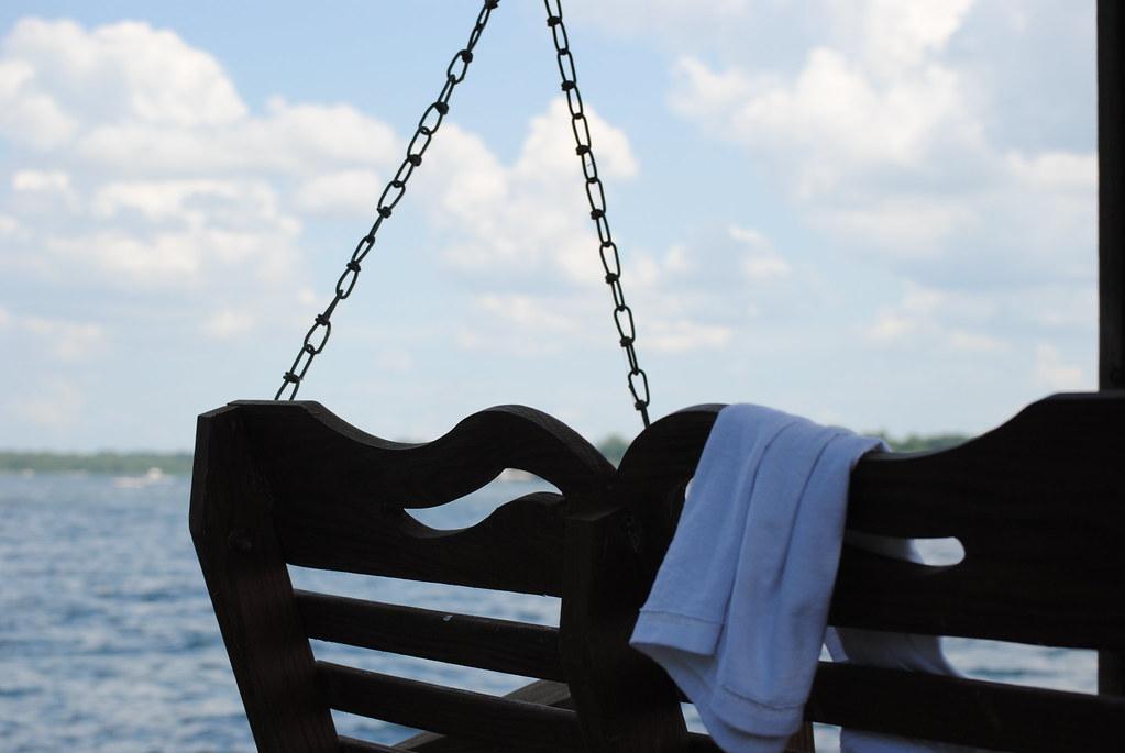 swing, water