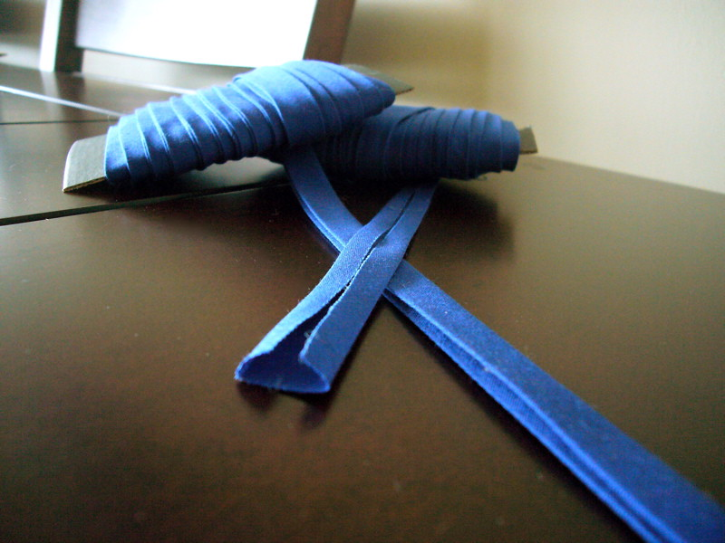 how to join double fold bias tape