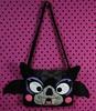 Batty Bag full (Croshame) Tags: bag crochet goth bat purse kawaii amigurumi