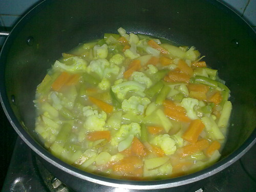 Veg Kurma in the making
