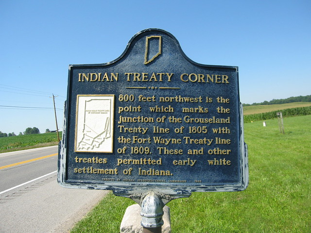 Indian Treaty Corner historic marker