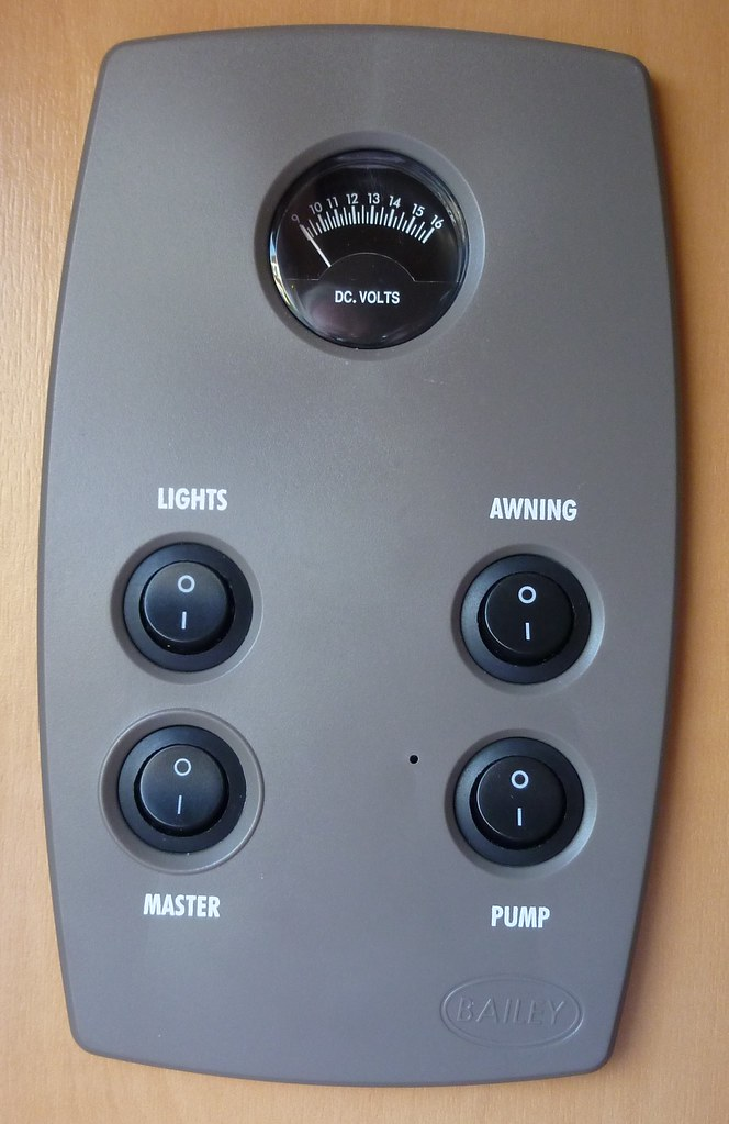 Master 12 Volt Switch in Saloon