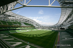 Dublin Arena (Dave G Kelly) Tags: road new ireland shadow dublin irish green grass sport architecture modern canon football rugby stadium steel soccer final seats pitch uefa fai lansdowne lansdowneroad 2011 canoneos5d irfu superaplus aplusphoto canonef1740f40lusm davegkelly scotttallonwalker avivastadium copyright2010davegkelly dublinarena gettyimagesirelandq1